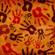 Stock Photo: Vintage hand prints pattern