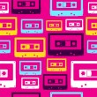 Pop audio cassette pattern — Imagen vectorial
