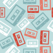 Royalty-Free Stock Vector Image: Vintage audio tapes pattern