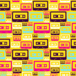 Retro pop audio tapes pattern — Stock Vector #11924535