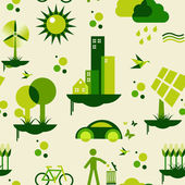 Green city pattern — Stockvector