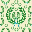Seamless laurel wreath pattern — Stock Vector