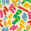 Multicolored flip flop pattern — Stock Vector