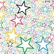 Multicolored stars seamless pattern — Stock Vector #12052373