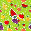 Royalty-Free Stock Vector Image: Sewing fruits in block colors seamless pattern