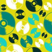 Vinyl record seamless pattern — Stock Vector