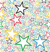 Multicolored stars seamless pattern — Stock Vector