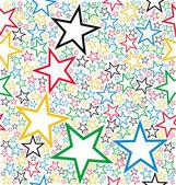 Patrón sin costuras estrellas multicolor — Vector de stock