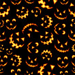 Halloween terror background pattern - Stock Vector
