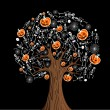 Royalty-Free Stock Vector Image: Halloween icons tree