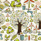 Go Green icons seamless pattern — Stock Vector