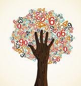 School education concept tree hand — Stock Vector