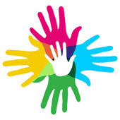 Multicolor diversity hands — Stock Vector