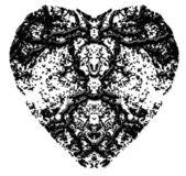 Black heart — Stock Photo