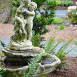 Stock Photo: Old garden birdbath