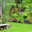 Pacific northwest garden - Stock Photo