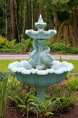 Blue water fountain — Stock Photo