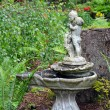 Stock Photo: Ornate birdbath