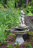 Ornate birdbath — Stock Photo