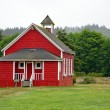 Stock Photo: Little red schoolhouse