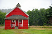 Little red schoolhouse — Stock Photo