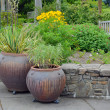 Stock Photo: Garden pots