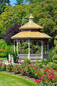 Gazebo and roses — Stock Photo