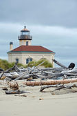 Lighthouse on the pacific coast — Stock Photo