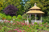 Spring garden gazebo — Stock Photo