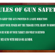 Rules of gun safety — Stock Photo