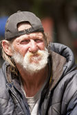 Homeless man portrait — Stock Photo
