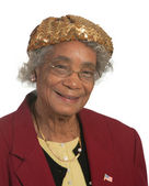Happy Elderly African American Woman — Stock Photo