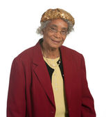 Portrait Elderly African American Lady — Stock Photo