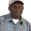 Old African American Man Wearing Hat — Stock Photo