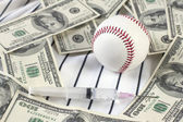 Baseball, Money, and Drugs — Stock Photo