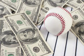 Business of baseball and money — Stock Photo