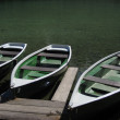 Pleasure boats at lake. Germany — Stock Photo