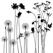 Samling för designers, växt vektor — Stockvektor