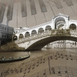 Stock Photo: Sounds of Venice, background, illustration