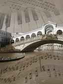 Sounds of Venice, background, illustration — Stock Photo
