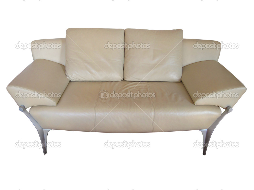 Sofa isolated on white background with clipping path — Stock Photo #12375965