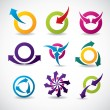 Abstract icon set — Stock Vector