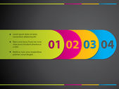 Stationary label set with numbers — Stock Vector