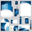 Business vector set in blue — Stock Vector #11108227