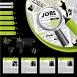 Stock Vector: Job searching website template