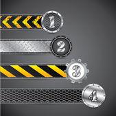 Metallic industrial gradation labels — Stock Vector