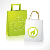 Bio and eco paperbags — Stock Vector