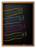 Rótulos de publicidade desenhados no quadro-negro — Vetorial Stock