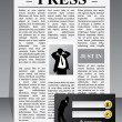 Business press website template — Stock Vector