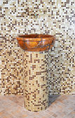 Wash basin made ​​of stone — Stock Photo